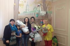 Oksana and her new baby