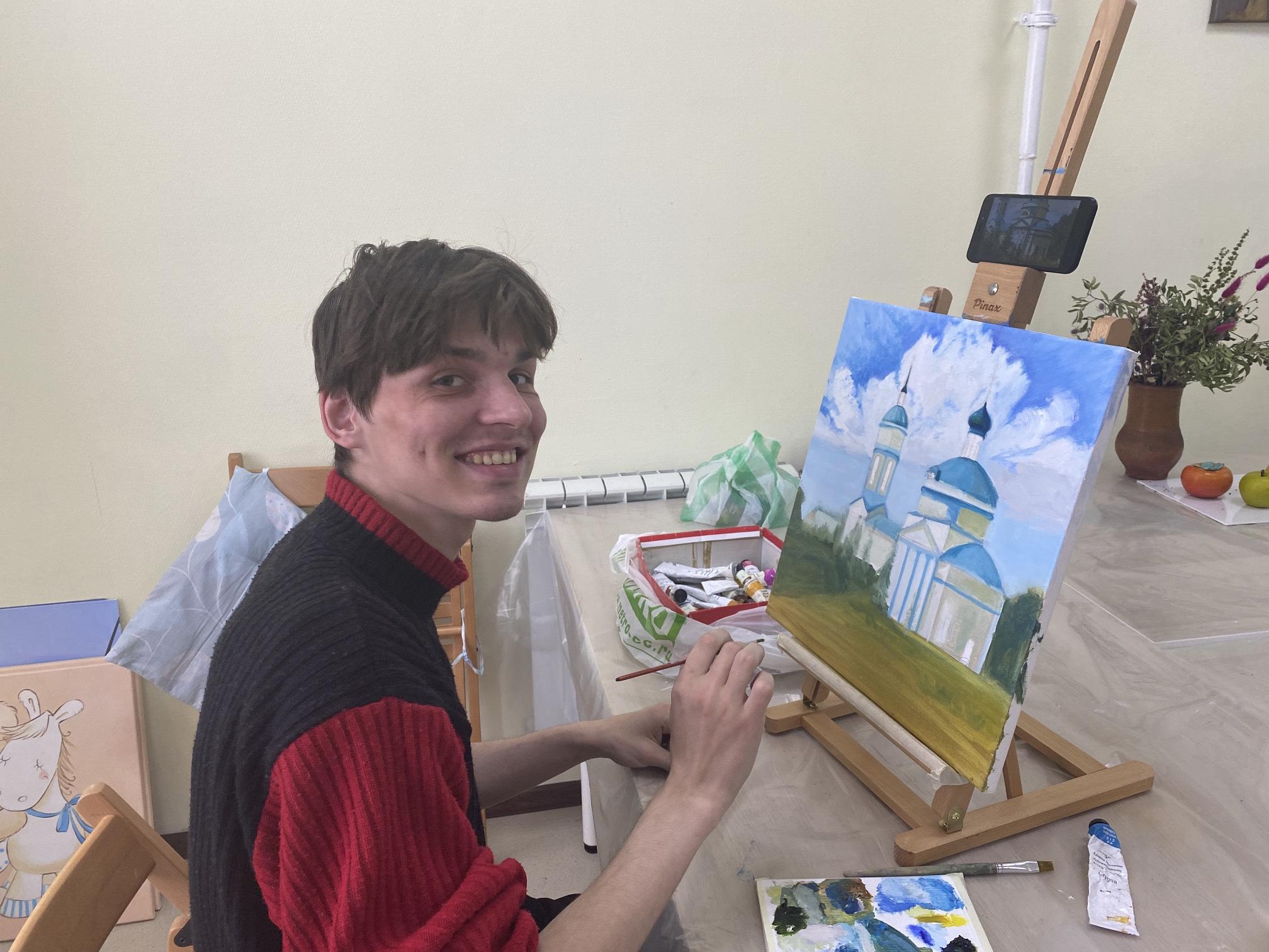 Антон: помощник художника в арт-студии